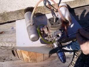 Supertigre G90 nitro engine modificato a benzina con ignezione elettronica