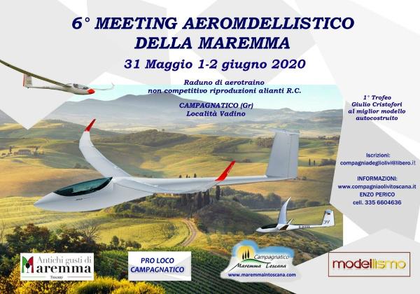 Raduno di aerotraino non competitivo riproduzioni alianti RC. Campagnatico GR località Vadino il 31 Maggio ed 1-2 giugno 2020